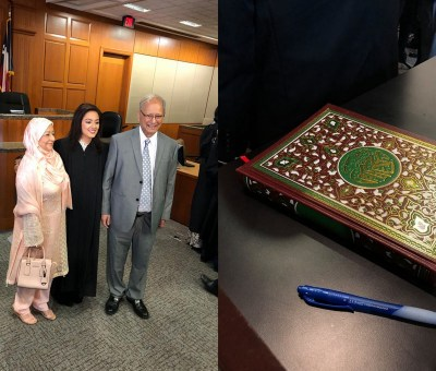 texas judge sworn into office on the quran