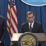 California Governor Gavin Newsom and Attorney General Xavier Becerra hold a press conference to discuss President Trump's national emergency declaration