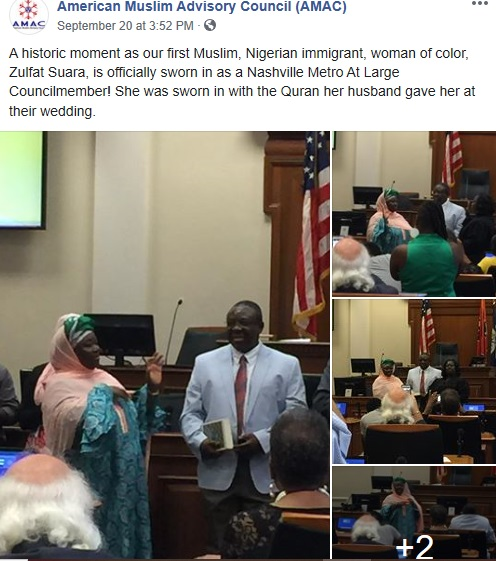 Zulfat Suara sworn in on quran