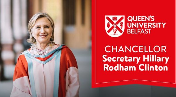 Hillary Clinton appointed chancellor of Queen's University in Belfast