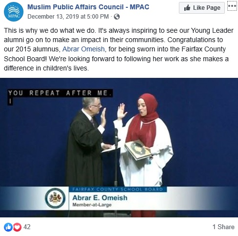 Muslim Woman Takes Oath Of Office On Quran In Virginia