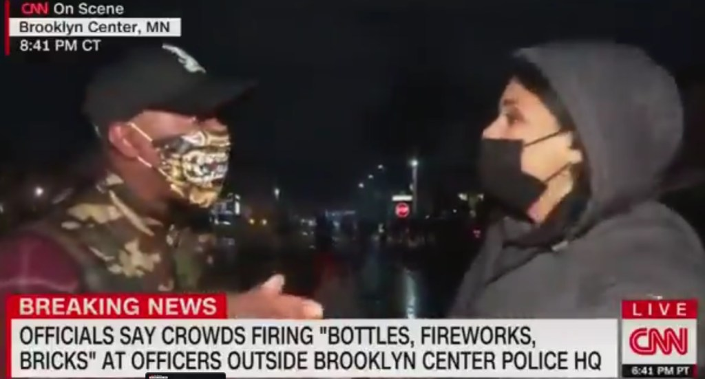 man goes off on cnn reporter live