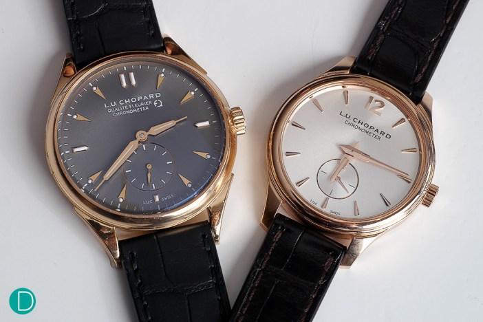 The L.U. Chopard Qualité Fleurier and the L.U. Chopard Chronometer.