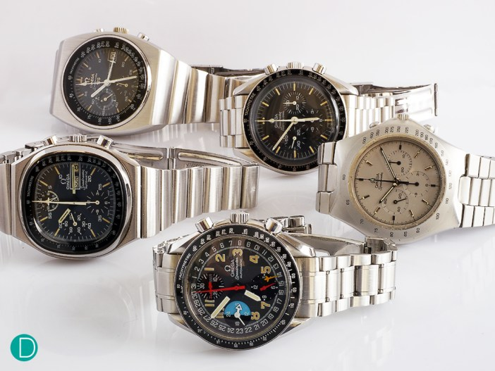 These are the Speedmasters that we are featuring today. A throwback to the good ol' days.