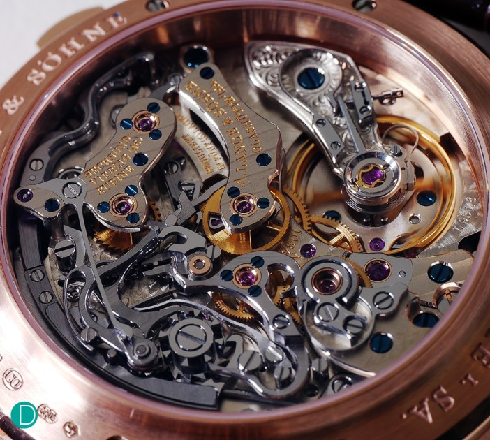 The movement, unchanged, and still totally mesmerising. A design masterpiece, which first made its appearance in 1999.