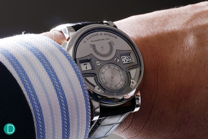 Although the dimensions suggest a large watch, it is rather comfortable on the wrist.