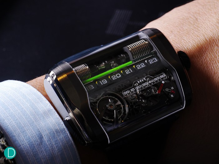 The all-new HYT H3. This one features a rectangular case, which is distinctively different from its predecessors.