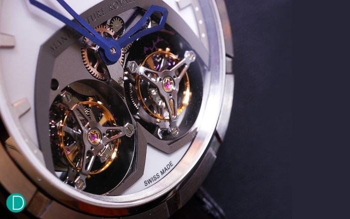 Another view of the double tourbillons.