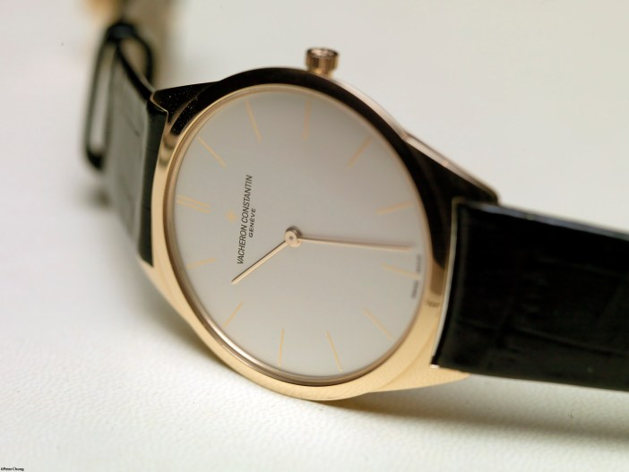 A simple dress watch, like this Vacheron Constantin Historique Ultra-Fine 1955, is rather timeless and classical.