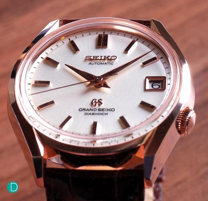 Grand Seiko 9S65 in rose gold.