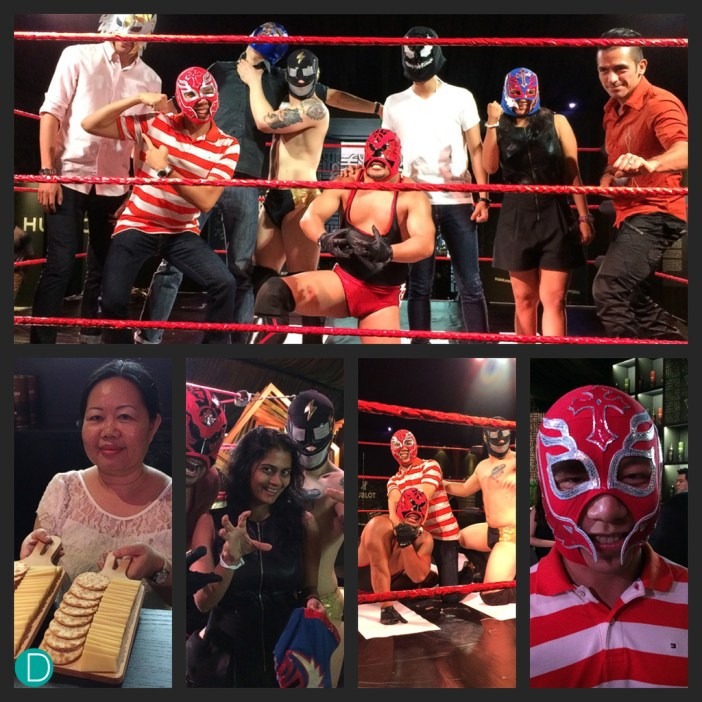 Lucha Libre clinics with journalists. The sessions are also open to public who can sign up for the clinics.