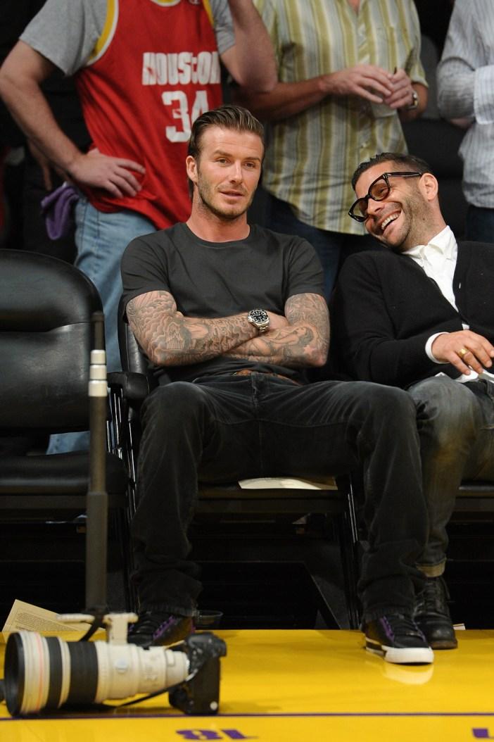 David Beckham with his Rolex Deepsea Sea Dweller. Picture (C) Pop Sugar
