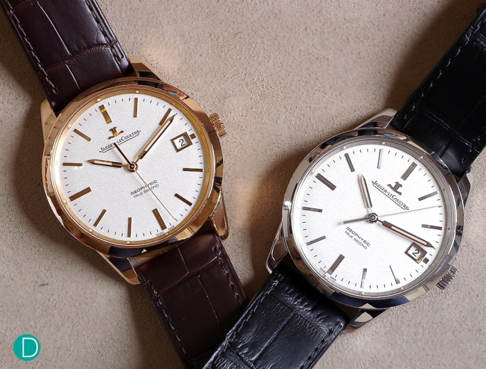The JLC Geophysic True Seconds in rose gold and steel.