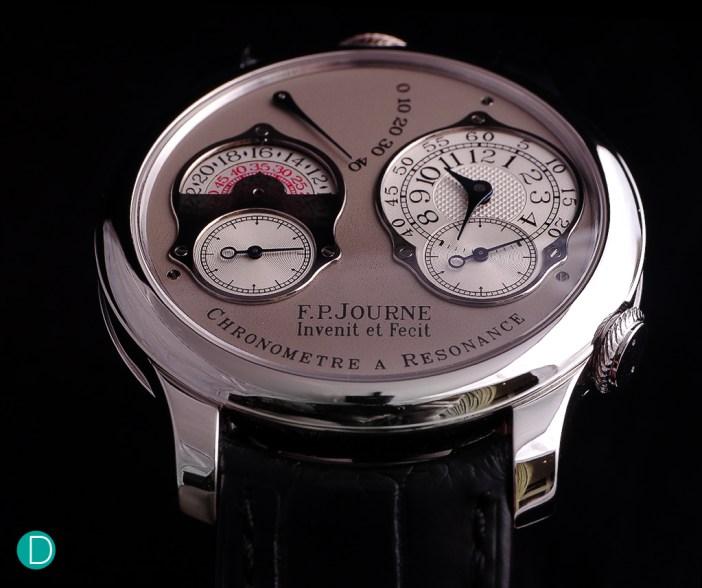 The Journe Chronomètre à Résonance remains a study in aesthetics. The entire design is harmonious, and make a very handsome watch.