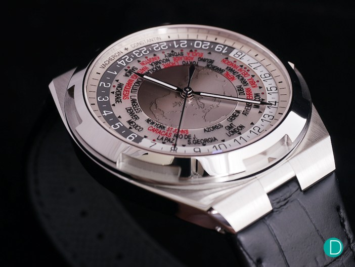 Vacheron Constantin Overseas World Time, shown here in a brown dial. The brown dial is part of the new dial colors which VC has just announced for the entire Overseas collection.