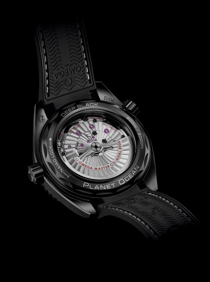 """The movement of the """"Deep Black"""", with some pretty interestng touches as compared to the usual Co-Axial Movements."""