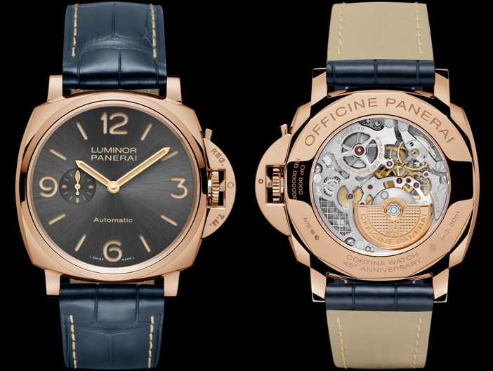 Panerai Cortina PAM752 front and back