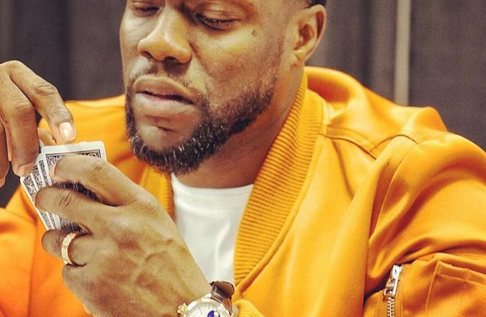 Kevin Hart wearing a Rolex Cellini Moonphase.
