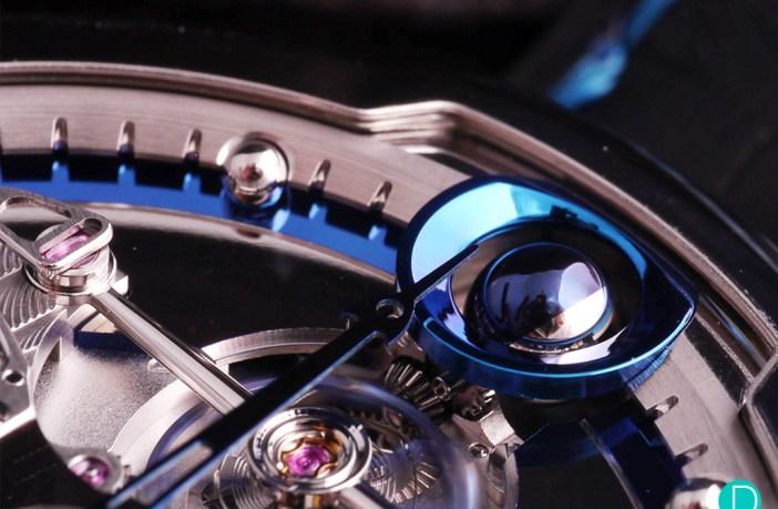 De Bethune DB28 Steel Wheels moonphase detail