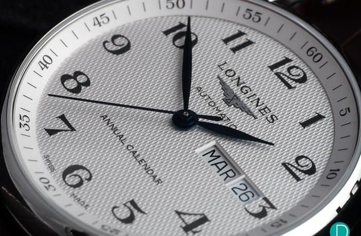 Longines Annual Calendar dial detail