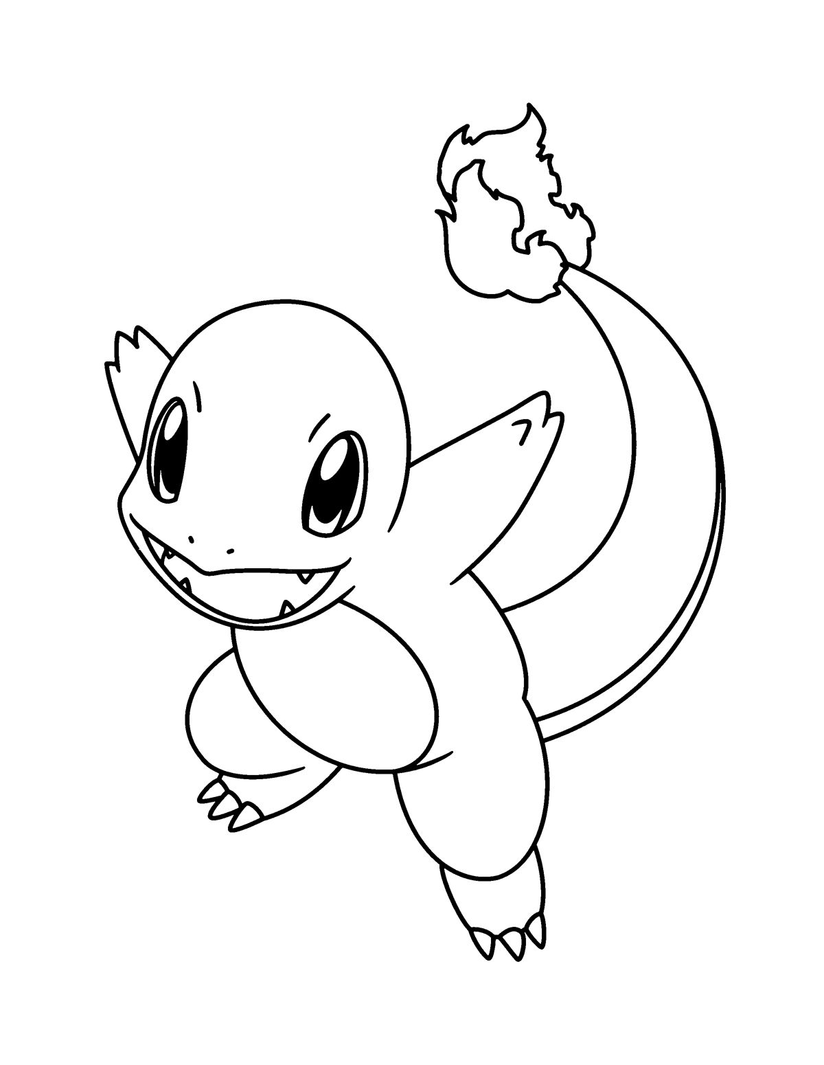 Charmander And Charizard Pokemon Coloring Page