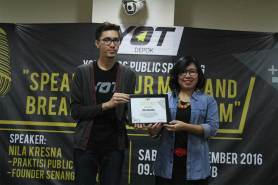"YOT Class ""Public Speaking : Speak Up Your Mind and Break Your Scepticism"""