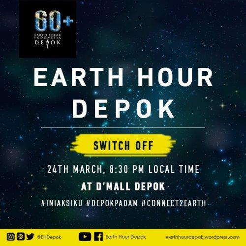 Earth Hour Depok 24 Maret 2018 Dmall Depok