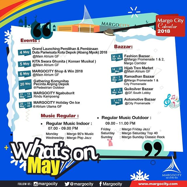 What's on May @ Margo City