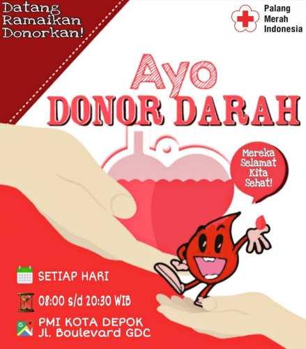 Jadwal Donor Darah PMI Depok
