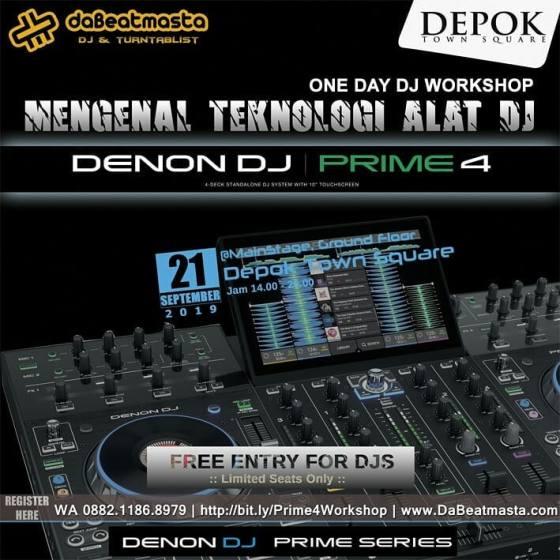 One Day DJ Workshop Mengenal Teknologi Alat DJ di Depok Town Square 21 September 2019 - 1