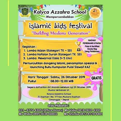 Islamic Kids Festival di Kalyca Azzahra School 26 Okt 2019