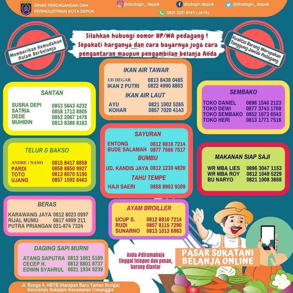Belanja Online Pasar Sukatani Depok