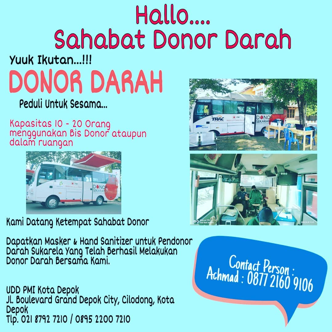 Donor Darah Depok Peduli Untuk Sesama
