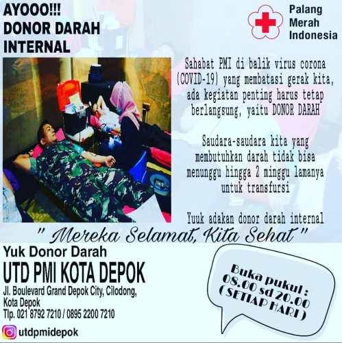 Donor Darah di PMI Kota Depok GDC