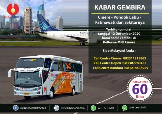 Bus Cinere Bandara Soetta HIBA Utama