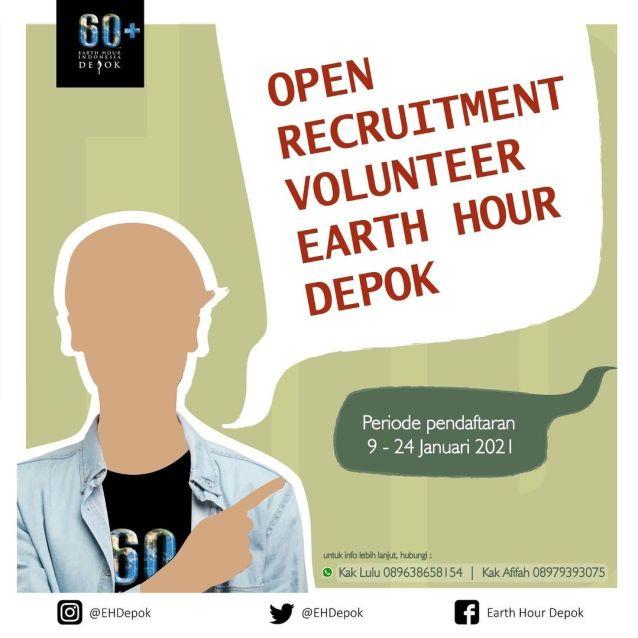 Open Recruitment Volunteer Earth Hour Depok 2021