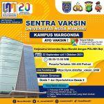 Sentra Vaksin di Universitas Nusa Mandiri Kampus Margonda Depok 22 September - 1 Oktober 2021