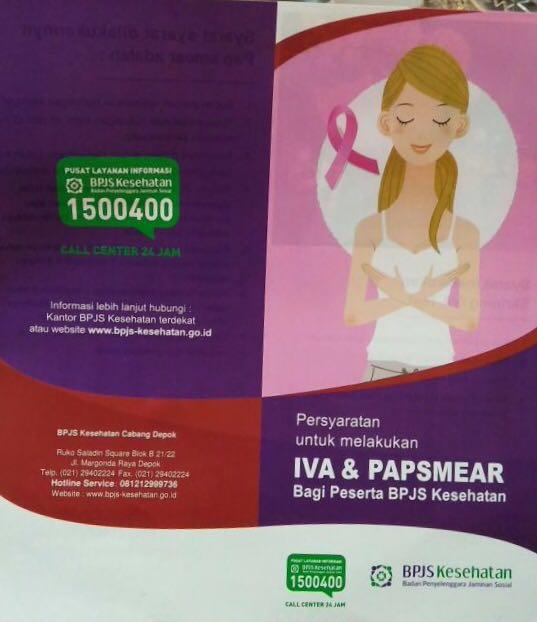 BPJS Kesehatan Depok mengadakan pemeriksaan Papsmear gratis di Balaikota Depok.