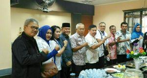 Sejumlah asosiasi dunia usaha hadir pada acara serahterima jabatan Kepala Disperindag Pemkot Depok.