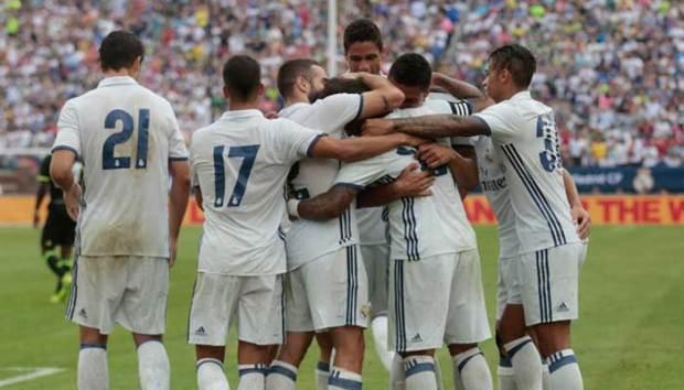 Penampilan Real Madrid kini semakin menakutkan setelah mengalahkan Muchen.(reuter)