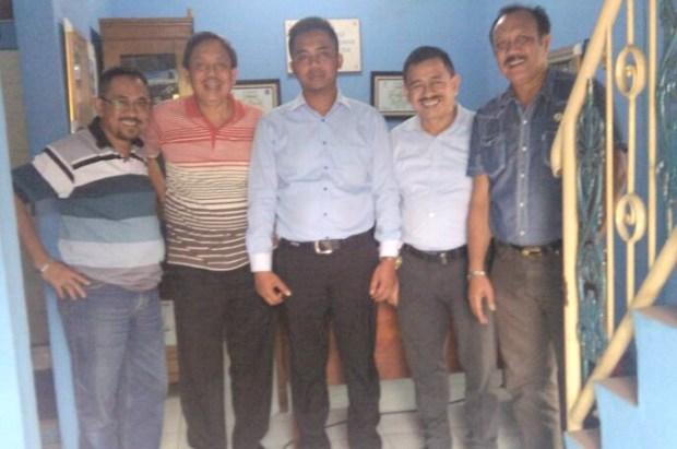 Ketua Kadin Kota Depok Miftah Sunandar berkunjung ke kantor Apindo Kota Depok.