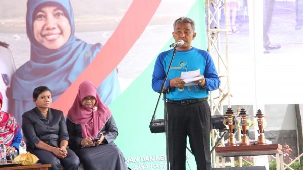 Depok menjadi tuan rumah peringatan Harkanas Provinsi Jawa Barat. Walikota Depok Mohammad Idris menyampaikan sambutan.