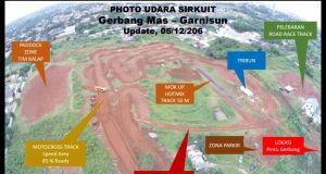 Inilah sirkuit motocross Germas Mas Nusantara di Kota Depok.