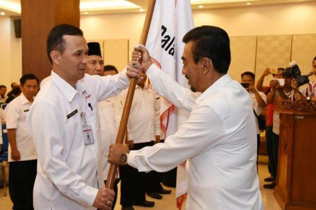 Dudi Mi'raz dilantik sebagai Ketua PMI Kota Depok periode 2017 - 2022..