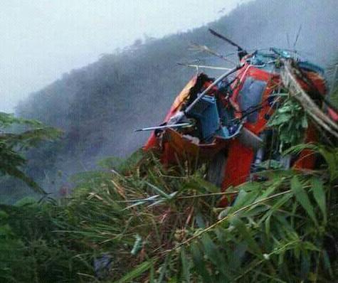 Inilah helikopter milik Basarnas yang jatuh di Temanggung.