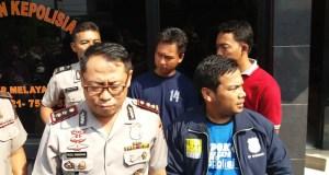 Wakapolresta Depok ketika memberikan keterangan kepada wartawan di Mapolresta Depok.