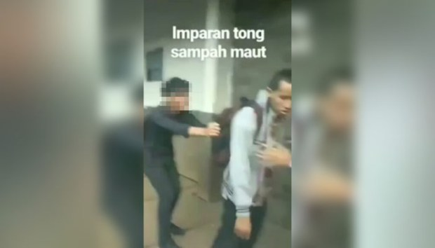 Inilah vidio yang viral di media sosial..Pembullyan itu kabarnya terjadi di kampus Gunadarma, Depok. (ist).