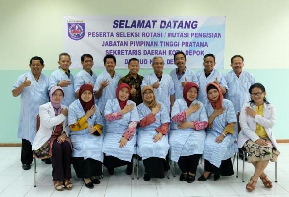 Inilah 13 calon Sekda Kota Depok yang menjalani tes kesehatan di RSUD Kota Depok.