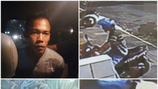 Inilah Suwandi (25) yang membunuh pacarnya di Perumahan Pesona Mungil, Kota Depok. Kanan adalah rekaman CCTV sebagai petunjuk polisi dalam pengejaran pelaku. (istimewa)