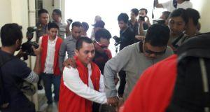 Andika Surachman, bos First Travel digiring masuk ruang sidang PN Depok.
